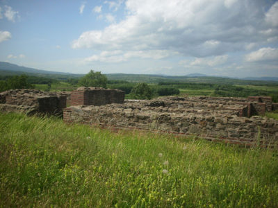 Panoramic view, Ruins, Roman town, Justiniana Prima, Empress city south Serbia