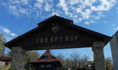 come in, zoloski vrt, zoo, see animals, gate to zoo, Town Bor ZOO Bor entrance