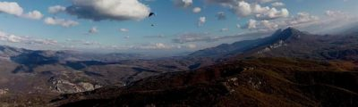 paragliding, nature, mountain, dry, landscape, sky, the view, Suva mountain Koritnjak peak