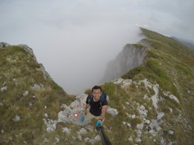 fog, hiking, nature, mountain