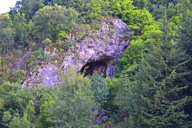 entrance to cave, enter to Samar cave, forest, Kopajkošara Serbia cave entrance, cave in Serbia