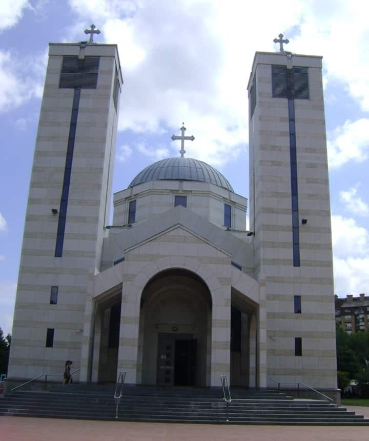 Emperor Constantine and Empress Helena church in Niš Serbia, Religious object in Niš Serbia, Church in Saint Sava park