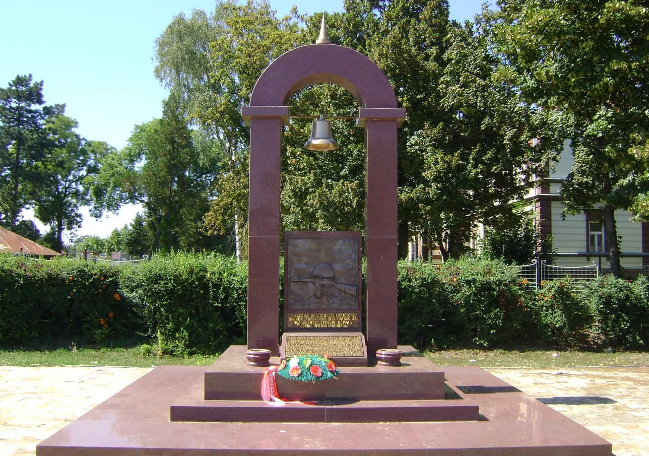 Monument to fallen Russian soldiers in incident in Niš, Incident in Niš WWII, American and Russian incident in Niš