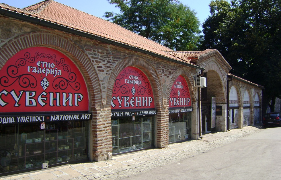 Souvenir shop in fortress, Buildings on the entrance of fortress,