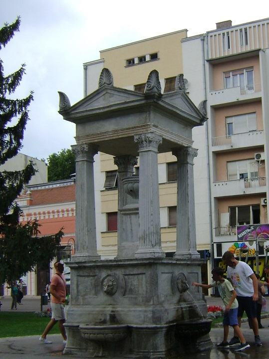 Public Fountain in Niš, Čairs fountain, King Milans square fountain, public tap in nis, drinkable water in nis serbia