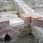 ancient roman palace in Sarkamen Serbia, archeological locality Vrelo Sarkament, East Serbia roman palace