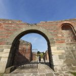 one of entrances to felix romuliana, ancient roman fortress in serbia