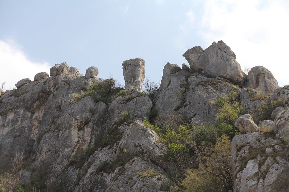 stone formations in Jelasnica gorge, sights of Jelasnica gorge