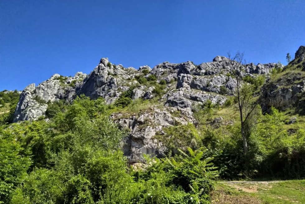 nature in Jelasnica gorge near Nis is great for riding bycicle